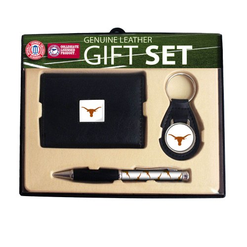 University of Texas Trifold Wallet Key Chain & Pen Gift Set