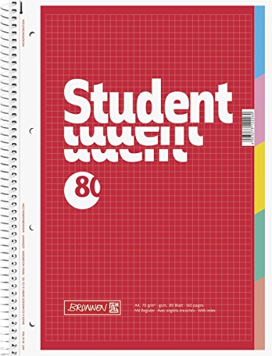 brunnen-1067902-notizblock-collegeblock-student-mit-register-a4-kariert-70g-m-80-blatt