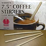 7 1/2 Inch Round Wooden Stirrer 500 count box