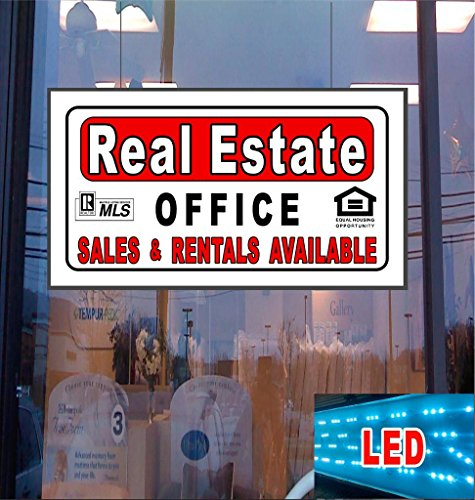 REAL ESTATE LED Light Up Sign (Freightliner Cascadia Dash compare prices)
