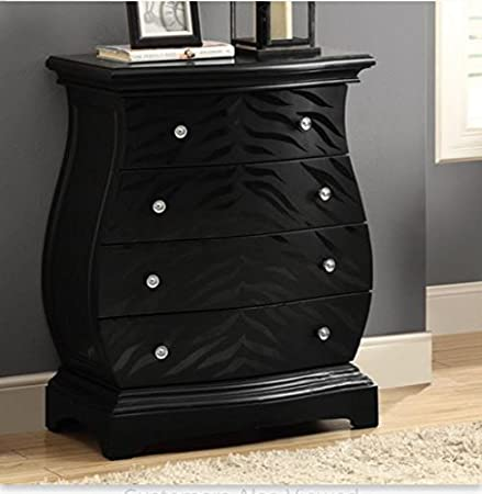 Black Drawer Chest - This One of a Kind Chest Will Be Perfect in Your Bedroom, Living Room or Office to Make Organizing Easier - This Will Be the Envy of Your Friends and Family - 1 Year Warranty!