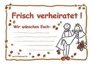 50 Ballonflugkarten Frisch verheiratet -90032-