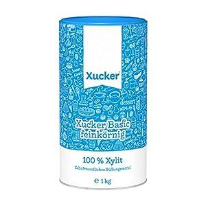 Xucker Feinkörniges Xylit in einer Dose, 1er Pack (1 x 1 kg)