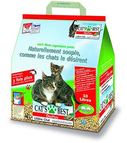 Cats Best OkoPlus + - 10L / 4,5 kg pour Petits animaux'