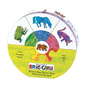 Mudpuppy Eric Carle Brown Bear Deluxe Wheel Puzzle