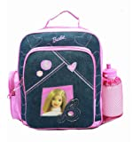 Small Backpack - Barbie - with Water Bottle - Purple Hearts