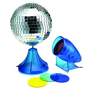 8 mirror ball with ac motor spot light and 4 lens toys games. Black Bedroom Furniture Sets. Home Design Ideas
