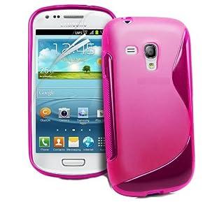 Rhaise Samsung Galaxy Trend Plus GT - S7580 / S7580 Silikon pink / rosa TPU Case Hülle Skin Tasche S-Line Schutzhülle Cover + Gratis Schutzfolie