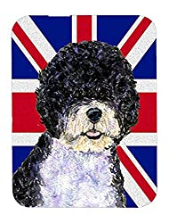 Caroline's Treasures Portuguese Water Dog with English Union Jack British Flag Mouse Pad/Trivet (SS4932MP)