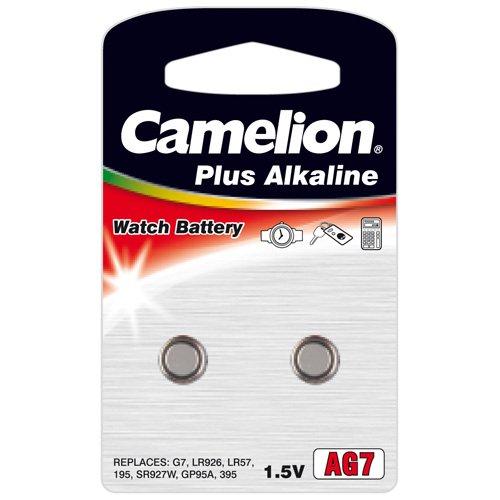 Camelion Premium Alkaline Ag 7 / Lr927 / 395 / 195 2 Batteries accell 1 5v 46mah ag7 lr927 395 sr927 195 alkaline cell button batteries 10 pcs