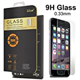 iPhone 6 Screen Protector,Tempered Glass Screen Protector,[4.7]by Ailun,Highest Quality Premium Tempered Glass,9H Hardness,0.33mm Thickness,Ultra Clear,Anti-Scratch,Bubble Free,Reduce Fingerprint Screen Protector,- Retail Packaging
