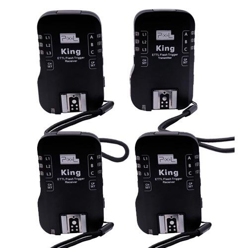 King e-TTL Professional Wireless Flash Trigger with 3 Receivers for Canon DSLR and Flashgun