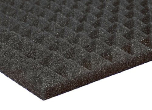 12 Pack Of (12X12X1)Inch Acoustical Pyramid Foam Panel For Soundproofing Studio & Home Theater-Charcoal Grey