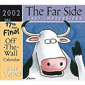 The Far Side Last Impressions 2002 Off-the-Wall Calendar Gary Larson