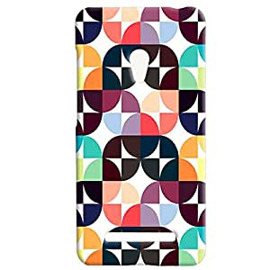 Theskinmantra Rectang Cubes back cover of Asus Zenfone 5