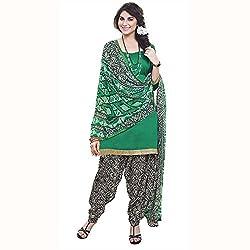 PARISHA Green Printed Un-stitched Patiyala Suit PVRPSP1010016