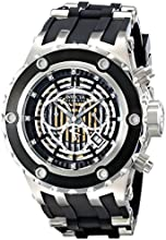 Invicta Men's Quartz Watch with Multicolour Dial Chronograph Display and Black PU Strap 16831