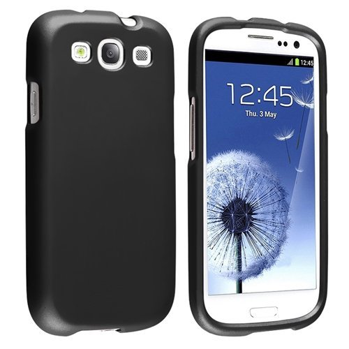 Minnesota Computers S3 Rubberized Case Cover 2 Pieces For Your Samsung Galaxy S3 / Siii / I9300 (Black)