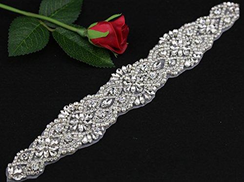 QueenDream Beaded Rhinestone Applique, Bridal Applique, Wedding Applique, diy headband, DIY Wedding