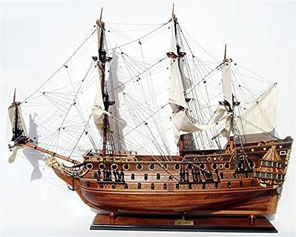 MAQUETTE DE BATEAU EN BOIS HMS PRINCE/1670/ 80cm