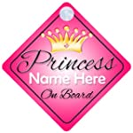 Princess On Board Pink with Crown (00...