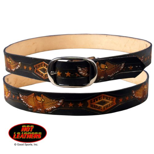 Hot Leathers Live Free, Ride Free Embossed Belt 38