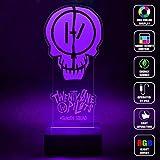 CMLART Twenty One Pilots Suicide Squad 3d Lamp Night Multi-color Change RGB Remote Control Best Gift Night Light LED Furnish Desk Table Lighting Home Decoration Toys