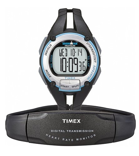 Cheap Timex Ironman® Road Trainer with Digital Heart Rate Monitor, Women's Teal/Black (B009RSI33C)