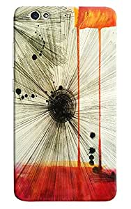 Omnam Feather Stripes Art Printed Designer Back Cover Case For Gionee S6