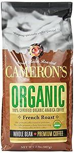 Cameron's Organic French Roast Whole Bean Coffee, 32-Ounce Bag