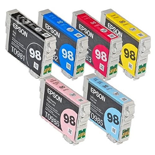 Full SET (6 Cartridges) 98 High Capacity Genuine Cartridges for Epson Artisan 700 800 710 810 (Epson 99 Ink Magenta compare prices)