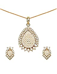 17.99 Grams Pearl Gold Plated Pendant Set