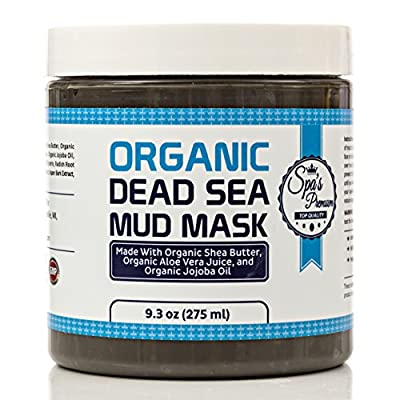 Spa's Premium Dead Sea Mud Mask 8oz for Facials and Body Mask - Clears Acne, Anti-Aging Mask - Exfoliate Your Skin, Pores and Acts As A Naturally Moisturize - Six All Natural All Organic Extracts and Oils with No Artificial Preservatives - Get The Only De