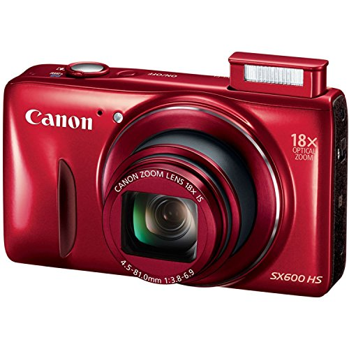 Canon PowerShot SX600 HS 16MP Compact Digital Camera - Wi-Fi Enabled (Red) (Certified Refurbished) (Canon Powershot Sx40 Hs Manual compare prices)
