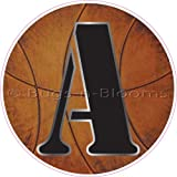 """""""A"""" Basketball Alphabet Letter Name Wall Sticker (5 1/2"""" Diameter). Decal Letters for Children's, Nursery & Baby's Sport Room Decor, Baby Name Wall Letters, Boys Bedroom Wall Letter Decorations, Child's Names. Sports Balls Mural Walls Decals Baby Shower"""