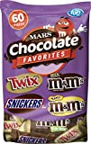 Mars Chocolate Candy Variety Mix (Twix, Snickers, and M&M's), 60 Pieces