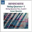 Hindemith : Quatuors à cordes, Vol.1 - quatuors n° 2 et n° 3