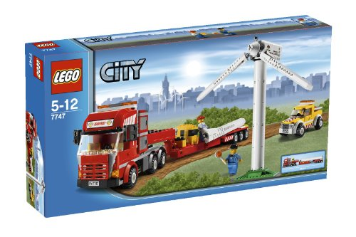 LEGO 7747 Wind Turbine Transport (Lego Trucks With Trailer compare prices)