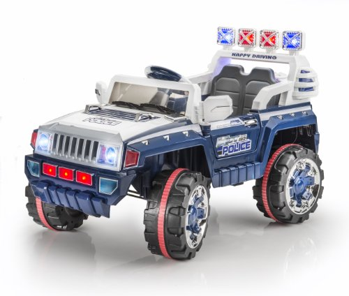 SPORTrax Hummer H3T Style Kid's Ride On Car, Battery Powered, Remote Control, w/FREE MP3 Player - Blue
