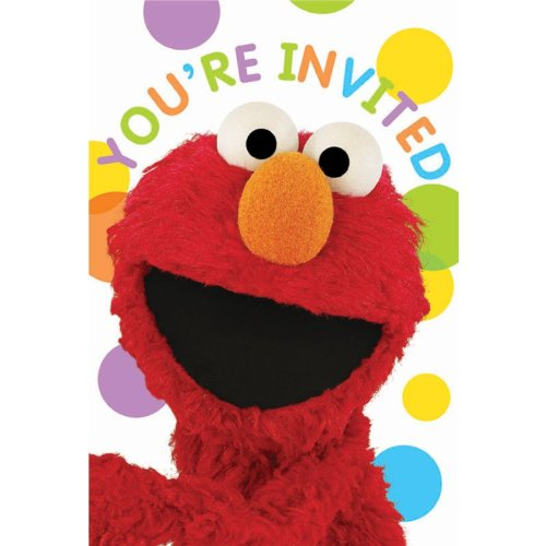 Sesame Street Party - Invitations 8 per pack Party Accessory [Toy] - 1