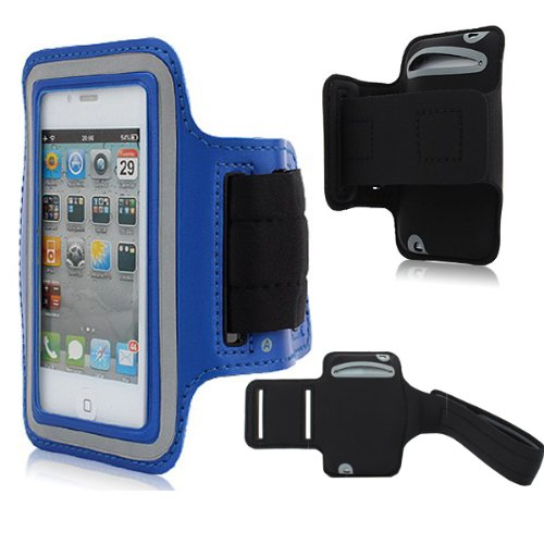Moon Monkey Easefit Sweat-Proof Neoprene Sports Armband For Iphone 5, 5S, 5C And Ipod Touch 5Th Generation (Blue)