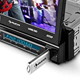 auna-DTA80BT-Moniceiver-Touchscreen-Autoradio-mit-Bildschirm-Monitor-Front-AV-DVD-Player-Eingang-Video-Eingang-fr-Rckfahrkamera-178cm-7-Zoll-groes-Display-Bluetooth-MP3-fhiger-USB-Slot-SD-Speicherslot