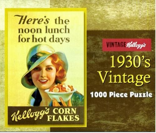 "Kellogg's 1930's Vintage 1000 Piece Puzzle (""Here's the Noon Lunch for Hot Days"") - 1"