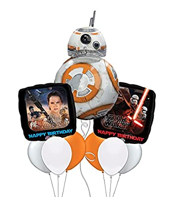 Star Wars: The Force Awakens BB-8 Happy Birthday Balloon Bouquet