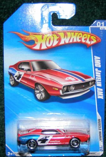 HOT WHEELS 2010 MUSCLE MANIA 01/10 RED AMC JAVELIN AMX