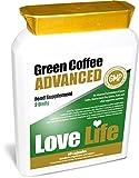 LOVE LIFE Green Coffee Advanced Green Coffee Contains 50% Chlorogenic Acid An Advanced Combination of Green Coffee Bean Extract, Cocoa, Guarana, Matcha Green Tea, Vitamin C, Cayenne Powder, Acai, Grape Seed Extract, Tomato, Goji Berry, Pomegranate Se