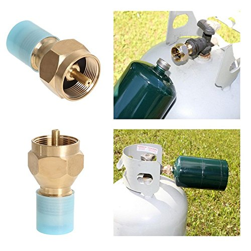 New Arrival Outdoor Camping Hiking Stove Adaptor Propane Refill Adapter for One Pound Tank Small Lp Gas Furnace Connector Cylinder Tank Coupler Heater Hunting BBQ Outdoor (Propane 1 Lb Filler compare prices)