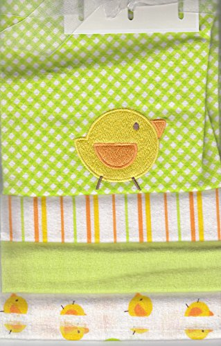 Buster Brown 4 Flannel Blankets (Green Duck) - 1