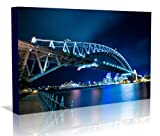 Sydney Harbour Bridge Australia Un-Framed Canvas Art Poster Print , Unframed Canvas Poster 20 inch x 30 inch