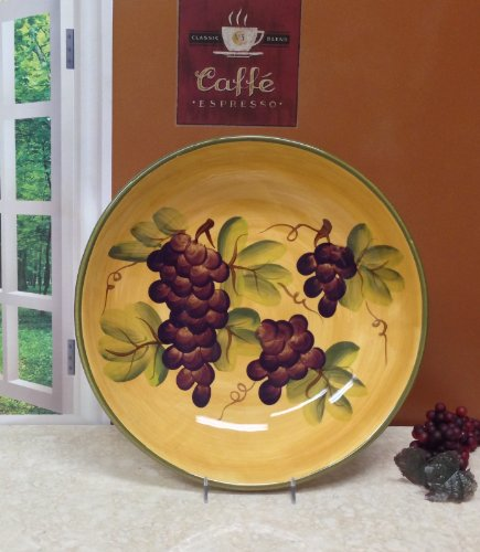 Tuscany Grape Large Pasta Bowl Serving Wine Tuscan back-610501